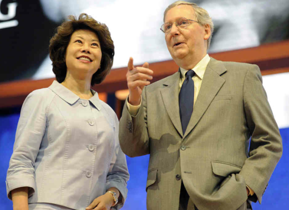 Mitch McConnell and his wife, Elaine Chao.